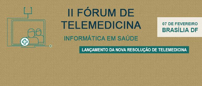 O Conselho Federal de Medicina aprovou a nova Resolução de Telemedicina em Dezembro de 2018 e o lançamento oficial ocorrerá no dia 07/02/2019, juntamente com a realização do II Fórum de Telemedicina. Clique para acessar a programação e fazer a inscrição.
